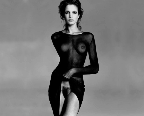 "Stephanie Seymour as photographed by Richard Avedon. In Avedon's obituary in The New York Times stated that, ""his fashion and portrait photographs helped define America's image of style, beauty and culture for the last half-century."""