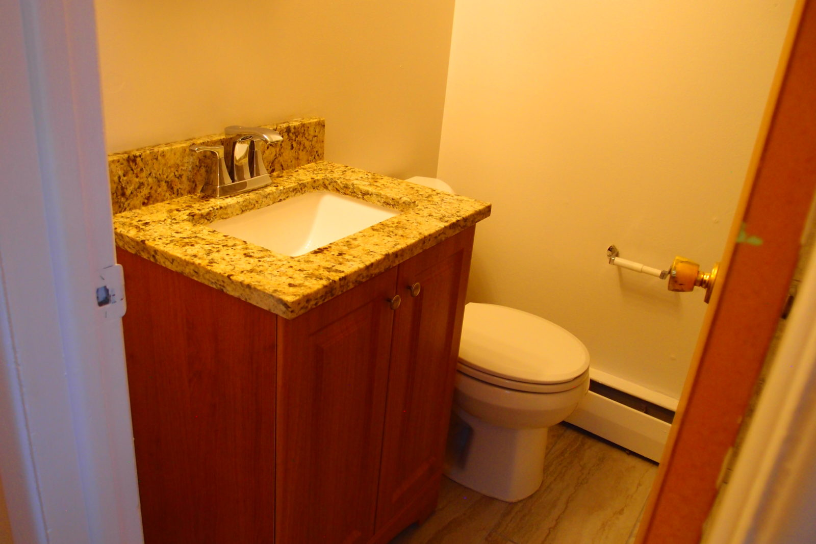 Bathroom with Granite Vanity