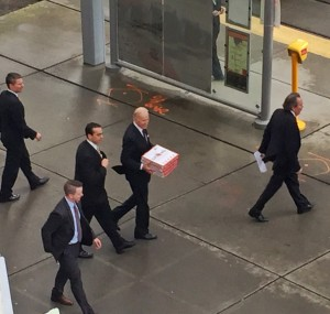 VP Carrying Pizza Boxes