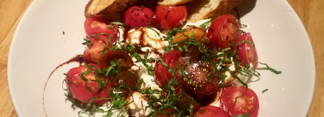 Starter Special: Burrata with Heirlooms