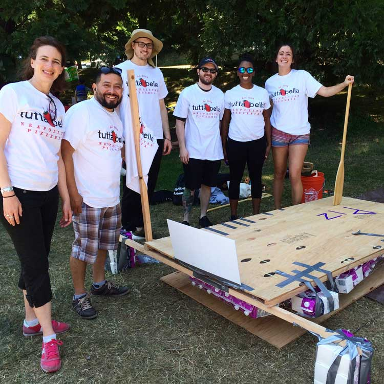Tutta Bella Crew at Milk Carton Derby Boat Build