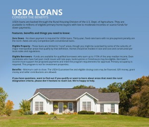 No down payment is required for USDA loans