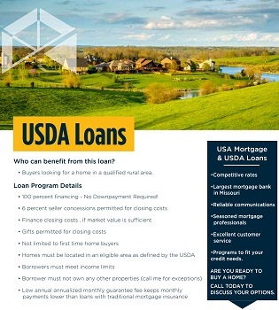 USDA Loans Brochure - USDA Rural Development (RD) Home Loans | USA Mortgage - Columbia, Missouri