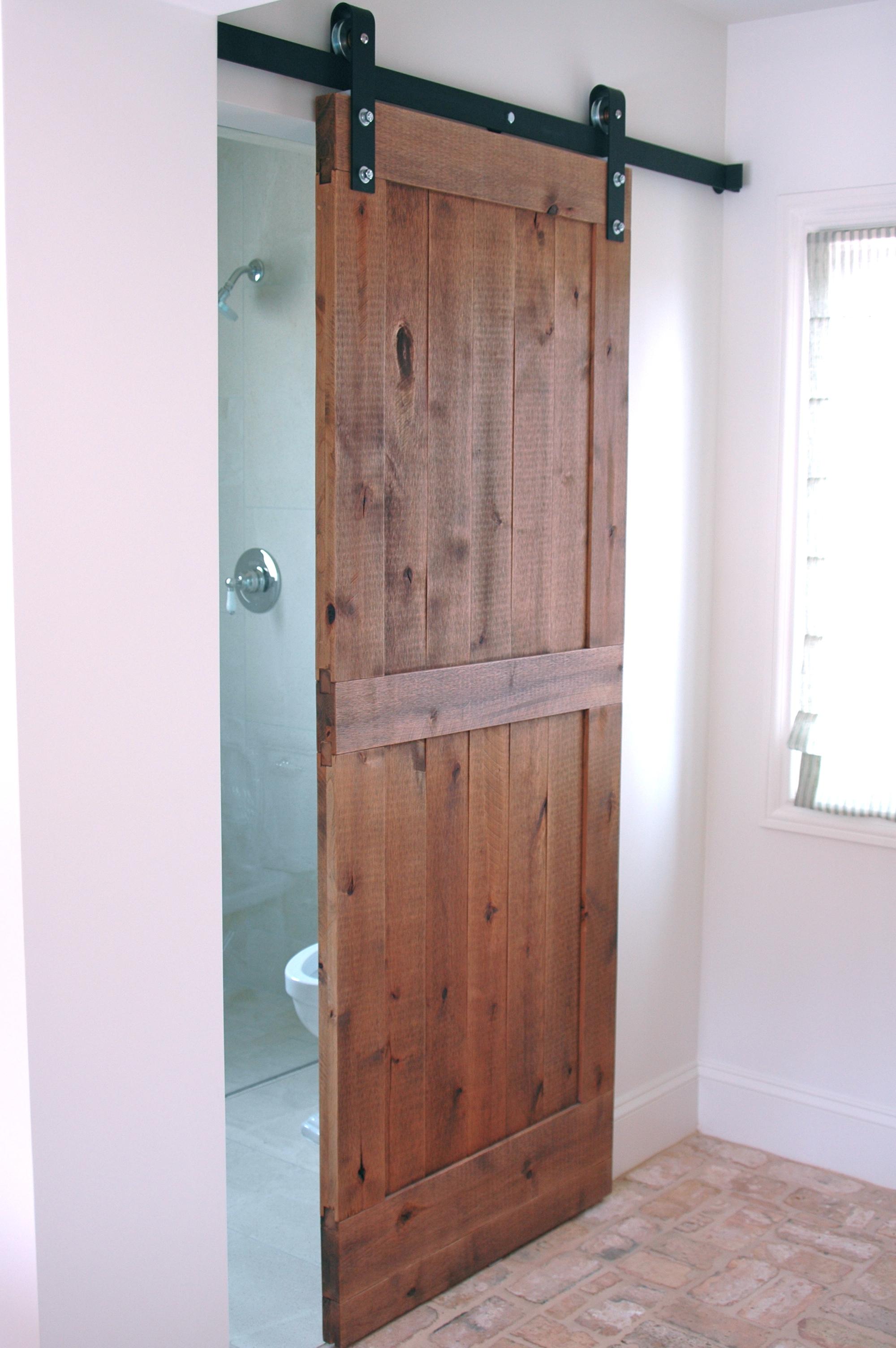 Barn door, barn door hardware, barn door in bath, barn door in house, custom barn door,
