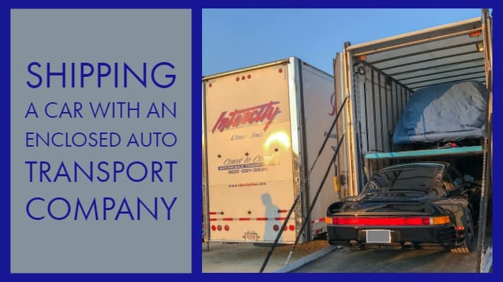 shipping a car enclosed auto transport