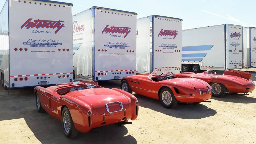 classic ferraris being shipped