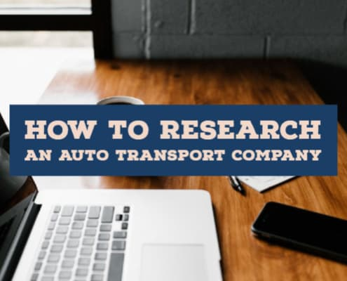 research an auto transport company