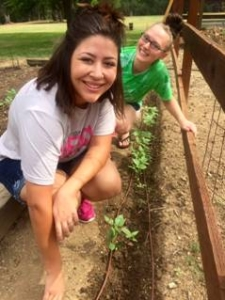 Mercy residents gardening