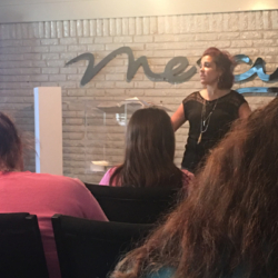 Lindsey Bussey teaching residents at Mercy Multiplied in Monroe, LA