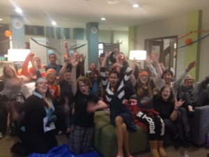 Super Bowl party at Mercy