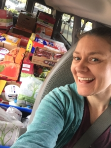 Nutrition Manager, Mistylena and the large Thanksgiving grocery trip!