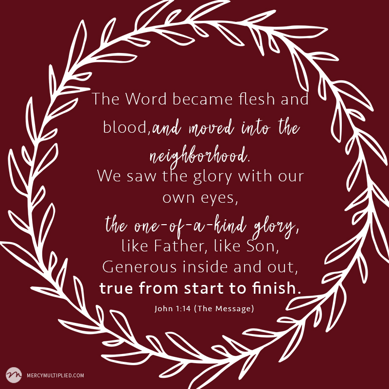 Word Become Flesh | Choosing Freedom | mercymultipliedblog.com