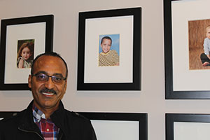 "David recently made a special visit to the Nashville home and found Joshua's photo on Mercy's ""Baby Wall of Fame."""