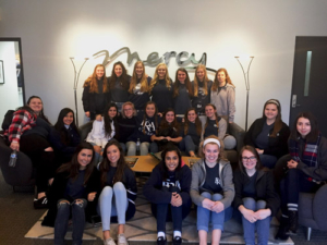 "Franklin Road Academy Junior Girls volunteered at Mercy as a part of their ""Spiritual Emphasis Week"""