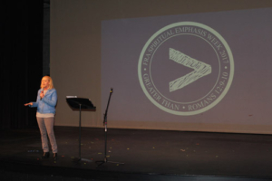 "Mercy Multiplied Founder and President, Nancy Alcorn, sharing at Franklin Road Academy's ""Spiritual Emphasis Week"""