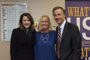 Nancy Alcorn, Mercy's Founder and President, with Governor Bill Haslam and First Lady Crissy Haslam