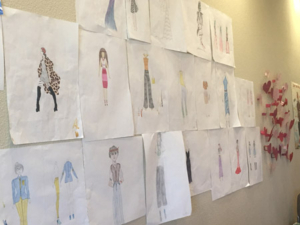 Fashion drawings by Mercy residents