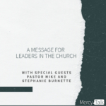 A Message for Leaders in the Church