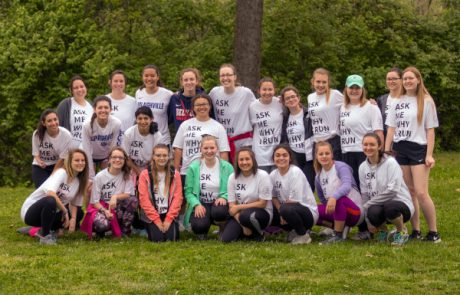 Mercy girls in their Run for Mercy t-shirts - 2019 Run for Mercy 5K