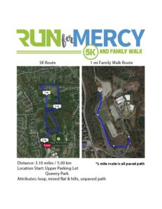 Run for Mercy 5K Course Map - Queeny Park - St. Louis, MO