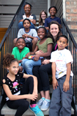 Michelle, hanging out with children, After School.