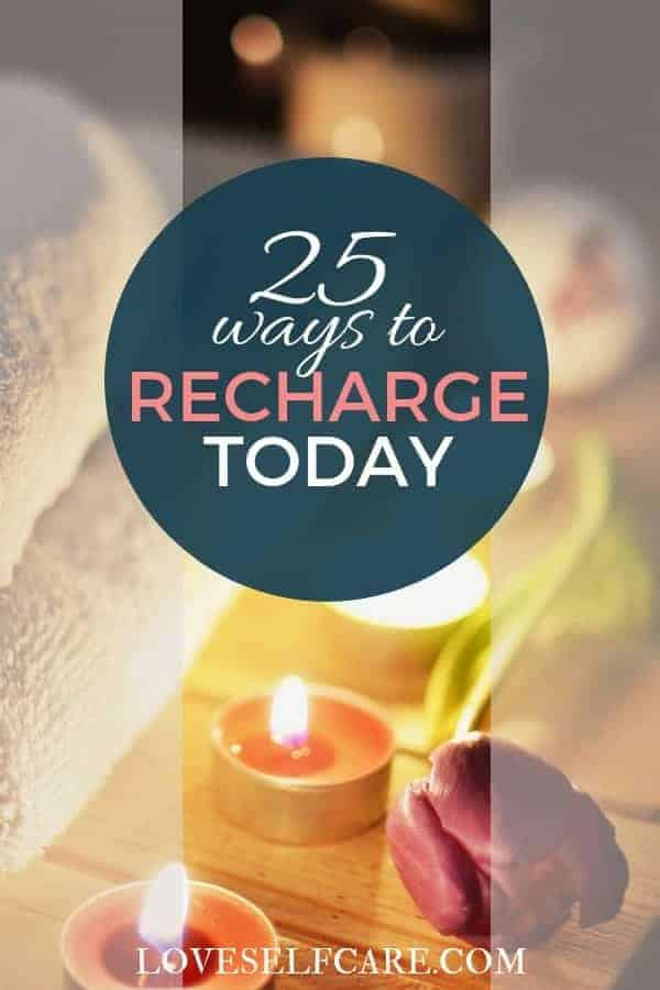 How often do you recharge your batteries to renew yourself? Here are 25 Sure Fire Ways to Recharge Your Batteries that are easy to do and feel better! https://loveselfcare.com/25-sure-fire-ways-recharge-batteries/