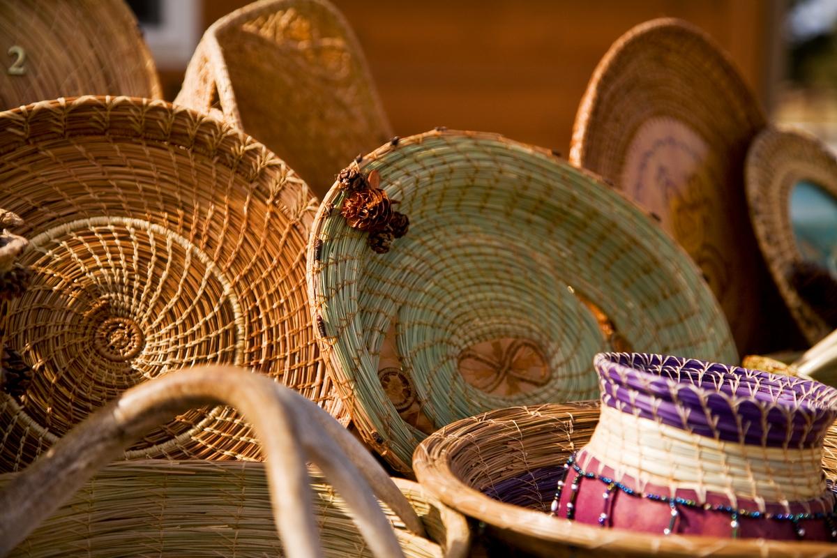 Delicate Pine Needle Baskets