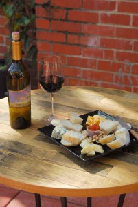 Wine and cheese pairing downtown