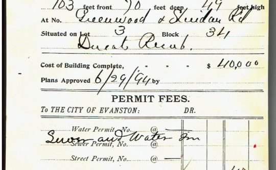 Building Permit for 225 Greenwood Street