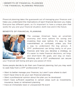 Benefits of Financial Planning