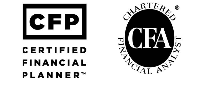 Chartered Financial Analyst CFA Certified Financial Planner CFP LOGO