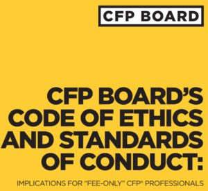 """CFP Board Release Cover """"Fee-Only"""""""