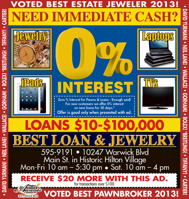 Loan and Pawn Newspaper Ad