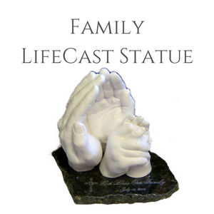 Family of hands lifecasts