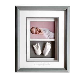 WP Creations Grey Double Shadow Box Hand Foot
