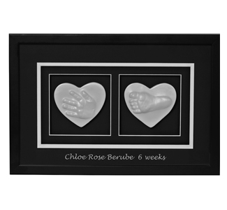 WP Creations double hand and foot raised impression frame