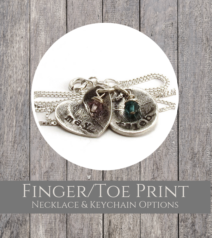 Finger Toeprint Jewelry