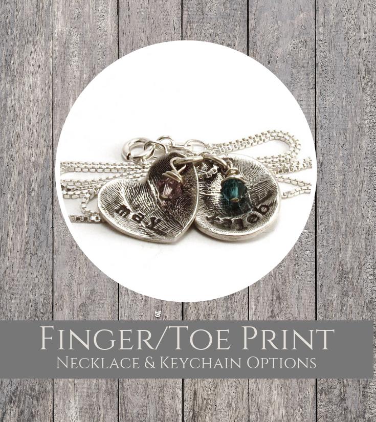 Finger Toeprint Jewelry