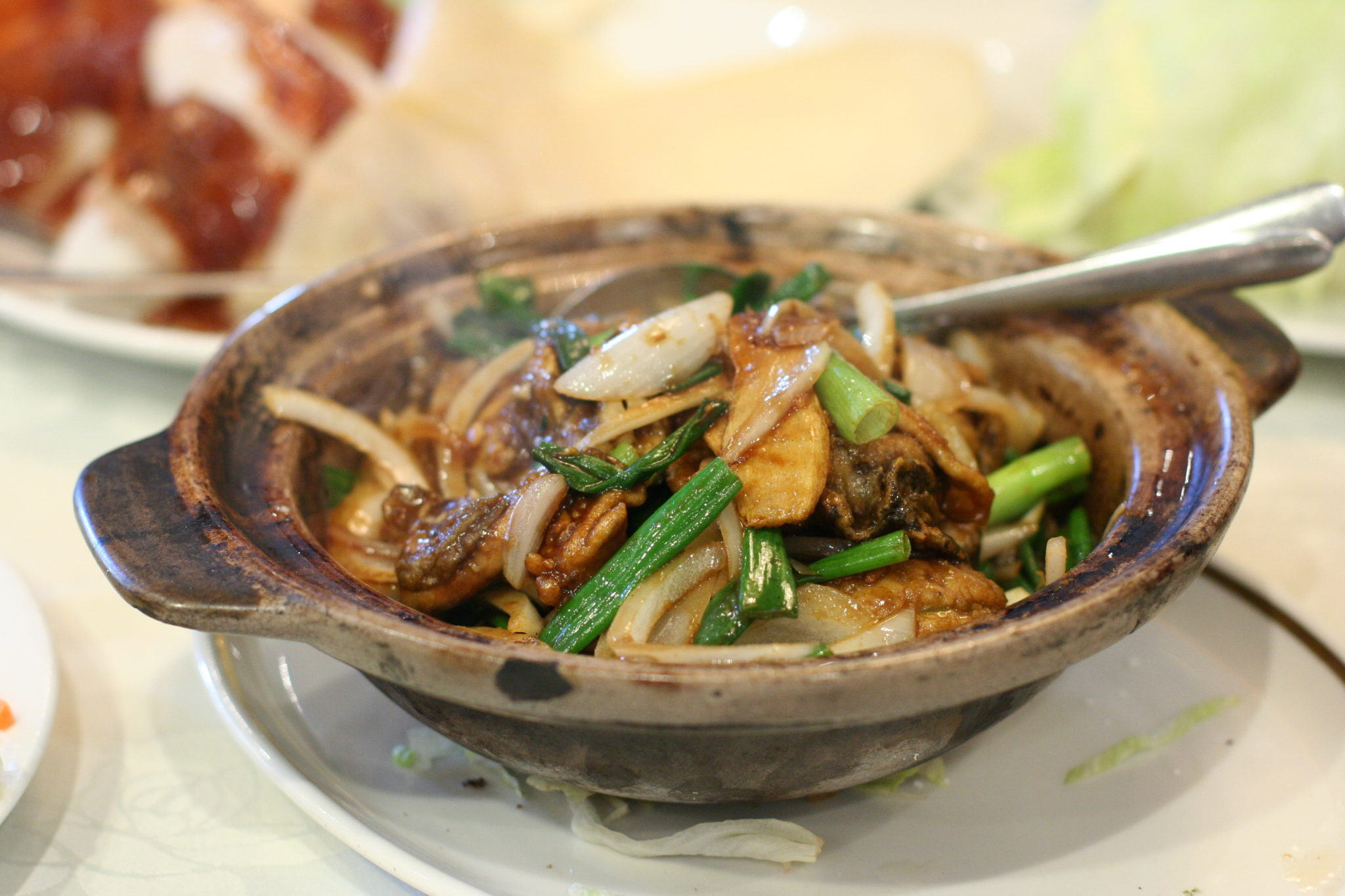 Oysters with Ginger and Scallions