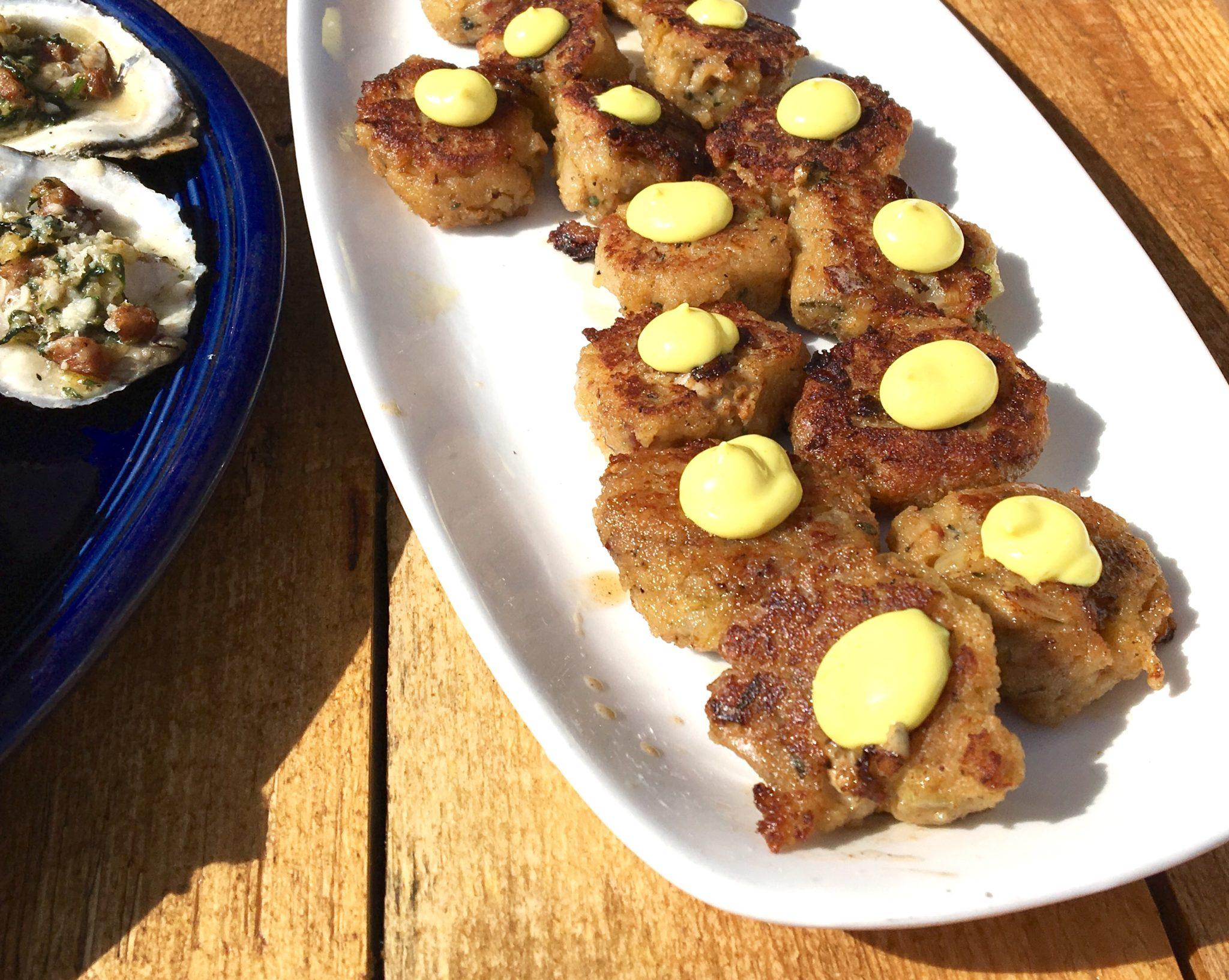 Oyster Cakes with Lemon Turmeric Aioli recipe.