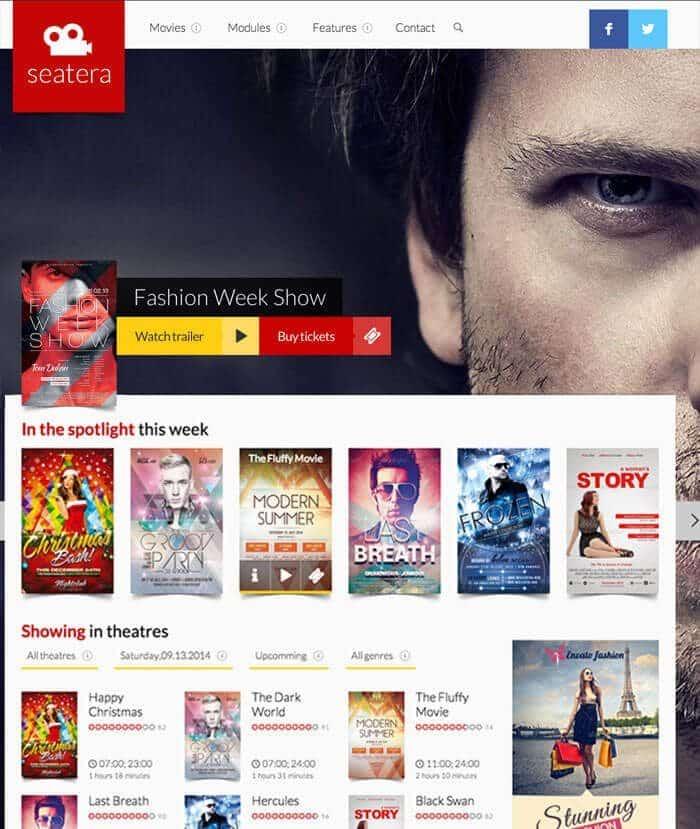 movie review website design