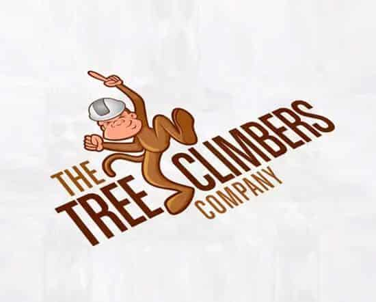 the tree climber company logo design