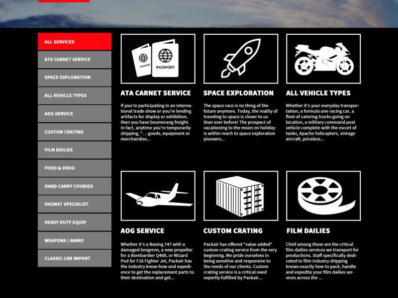logistics website design