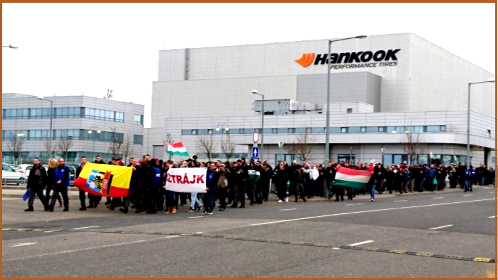 AutoInformed,com on Strike at Hankook's Dunaújváros plant in central Hungary
