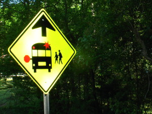 Bus stop ahead sign Flat Shoals 4-22-15