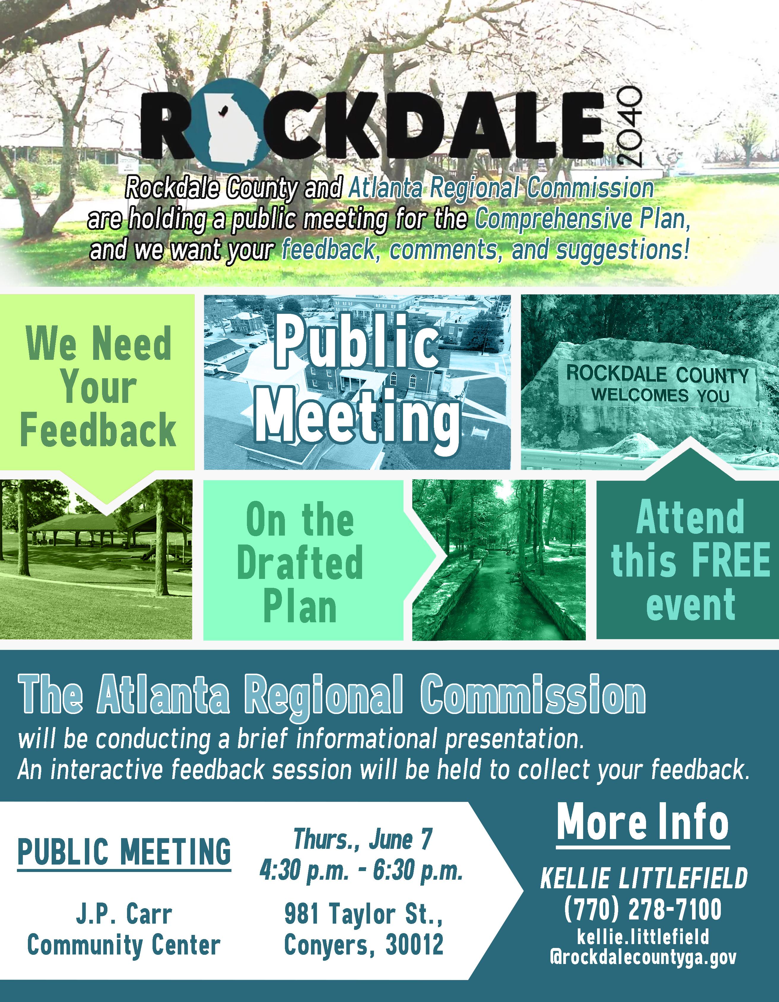 Public Comment Meeting for Comprehensive Plan @ J.P. Carr Community Center