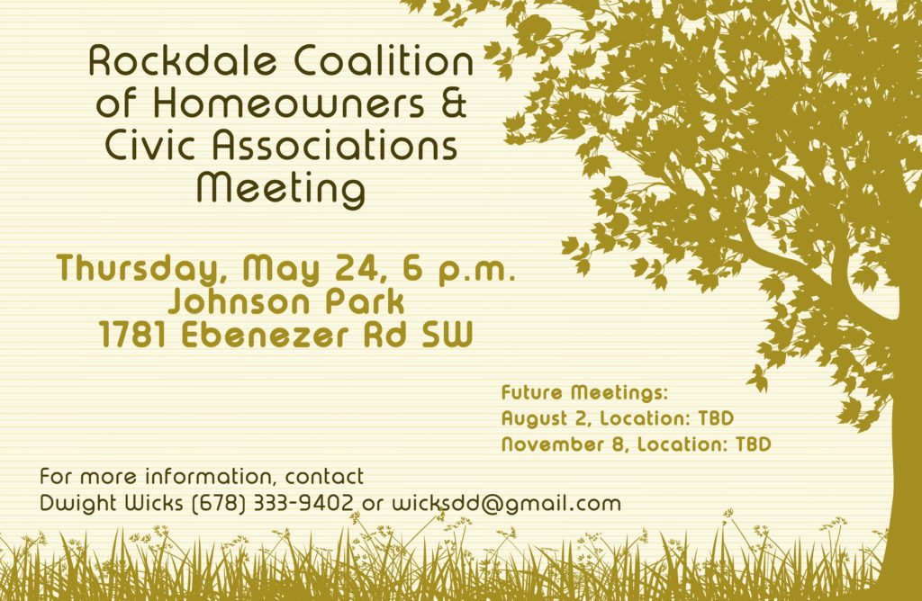 Rockdale Coalition of Homeowners & Civic Associations Meeting @ Johnson Park
