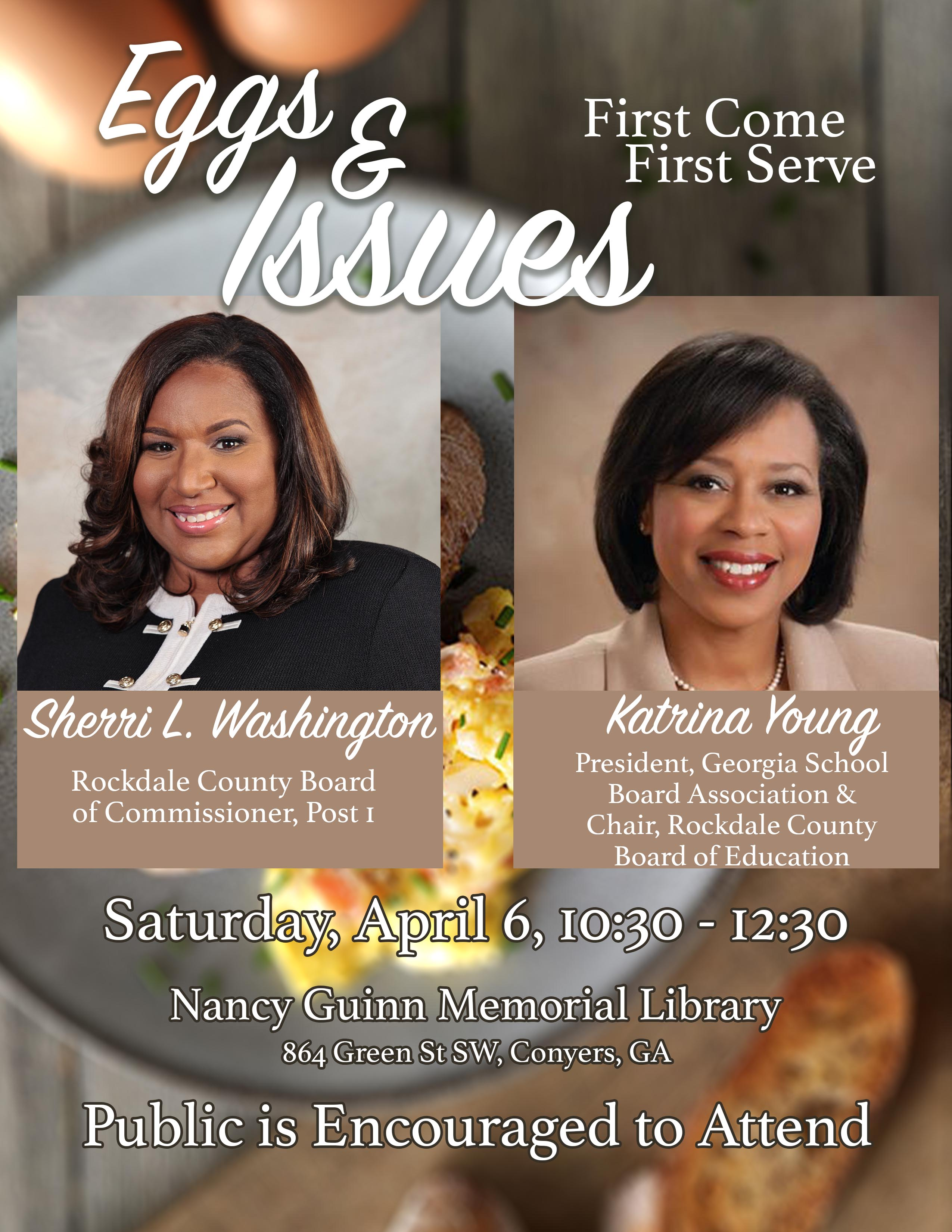 Eggs and Issues Brunch @ Nancy Guinn Memorial Library
