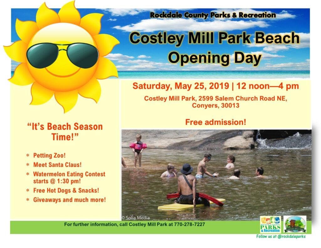 Costley Mill Park Beach - Opening Day @ Costley Mill Park