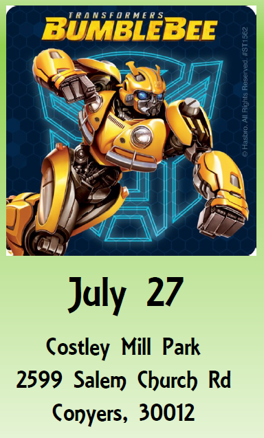 Sunset Cinema - BumbleBee @ Costley Mill Park